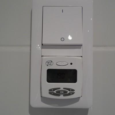 Golvvärme termostat o funktionsbrytare